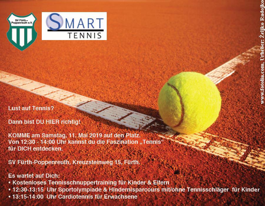 Tennis-Schnuppertraining am 11. Mai 2019