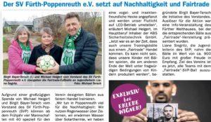 Read more about the article Der SVP setzt auf Nachhaltigkeit und Fairtrade.